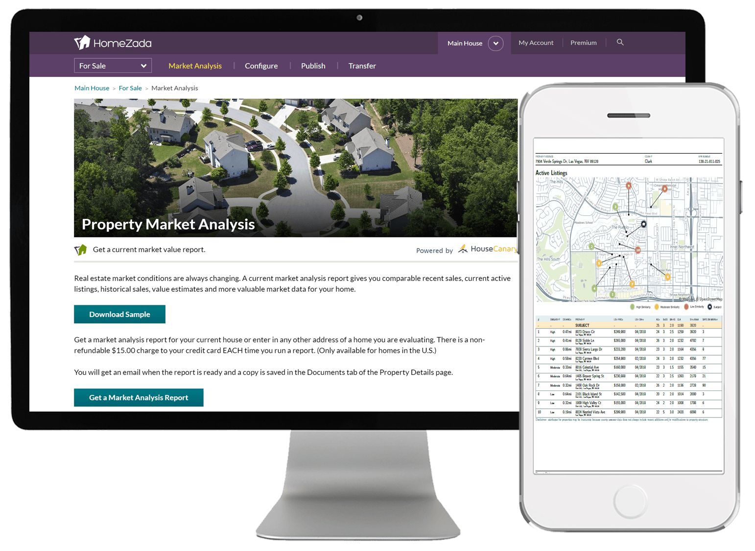 HomeZada Market Analysis CMA Report