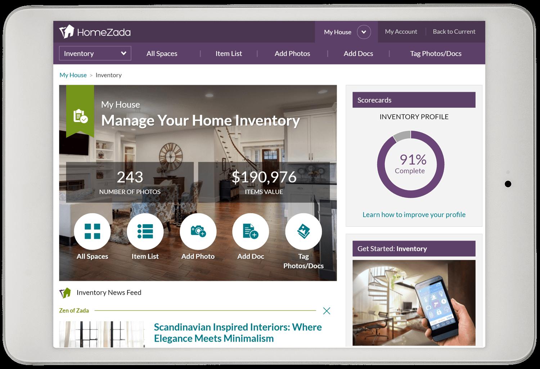 home inventory software app household inventory checklist homezada