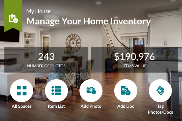 Home inventory overview