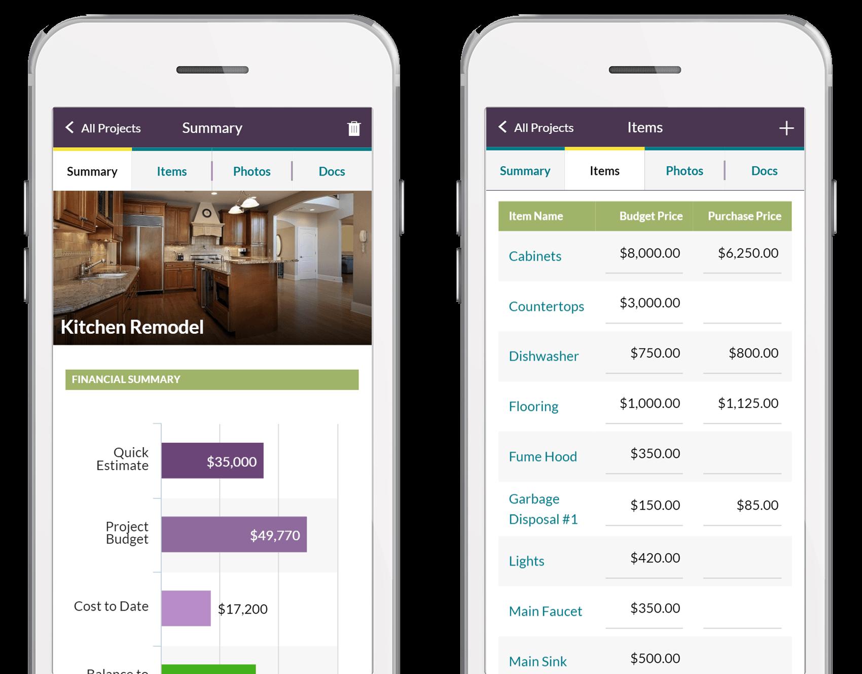 Home Improvement Budgeting Remodeling Software App Homezada