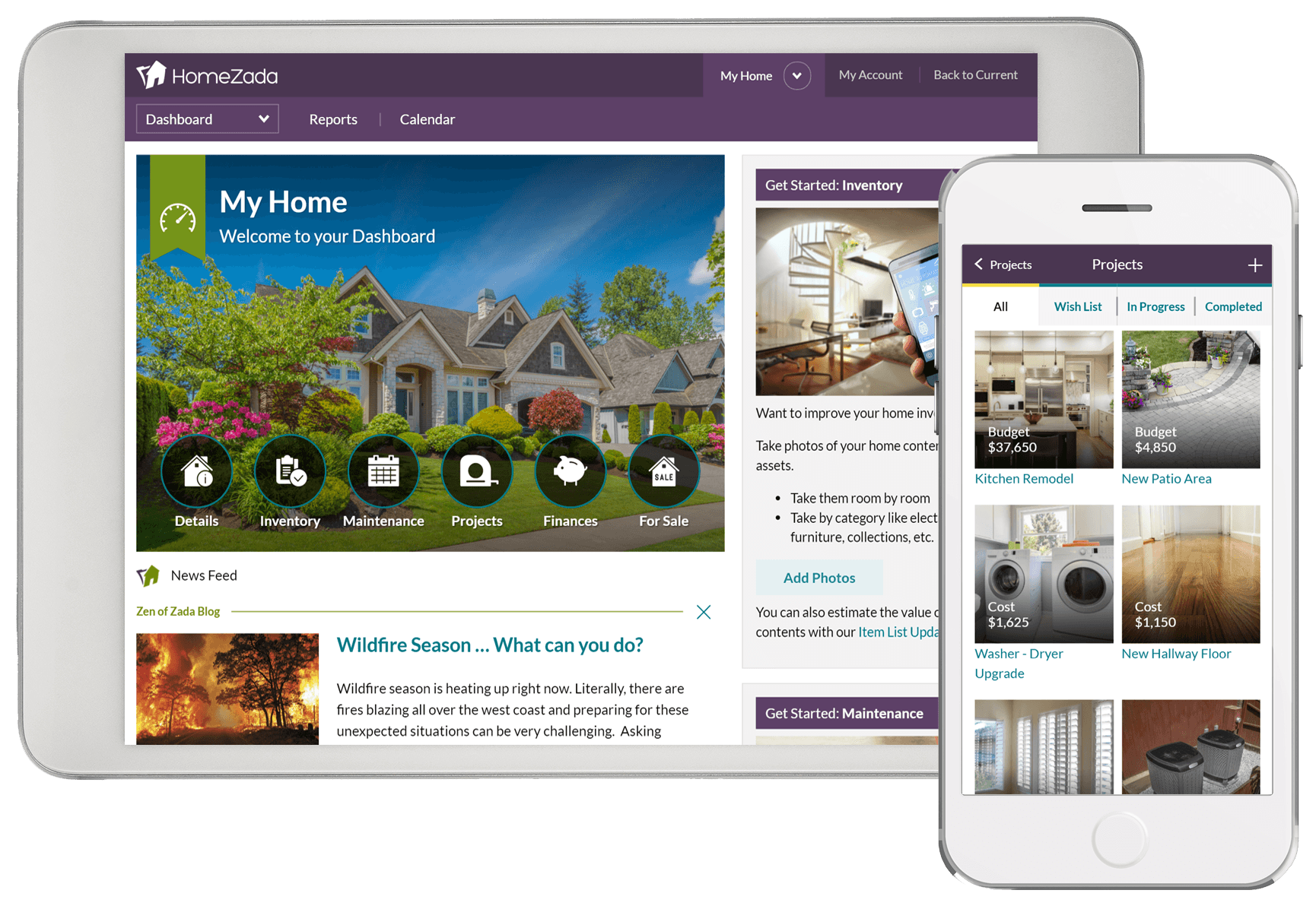 Homezada home management intro to buyers