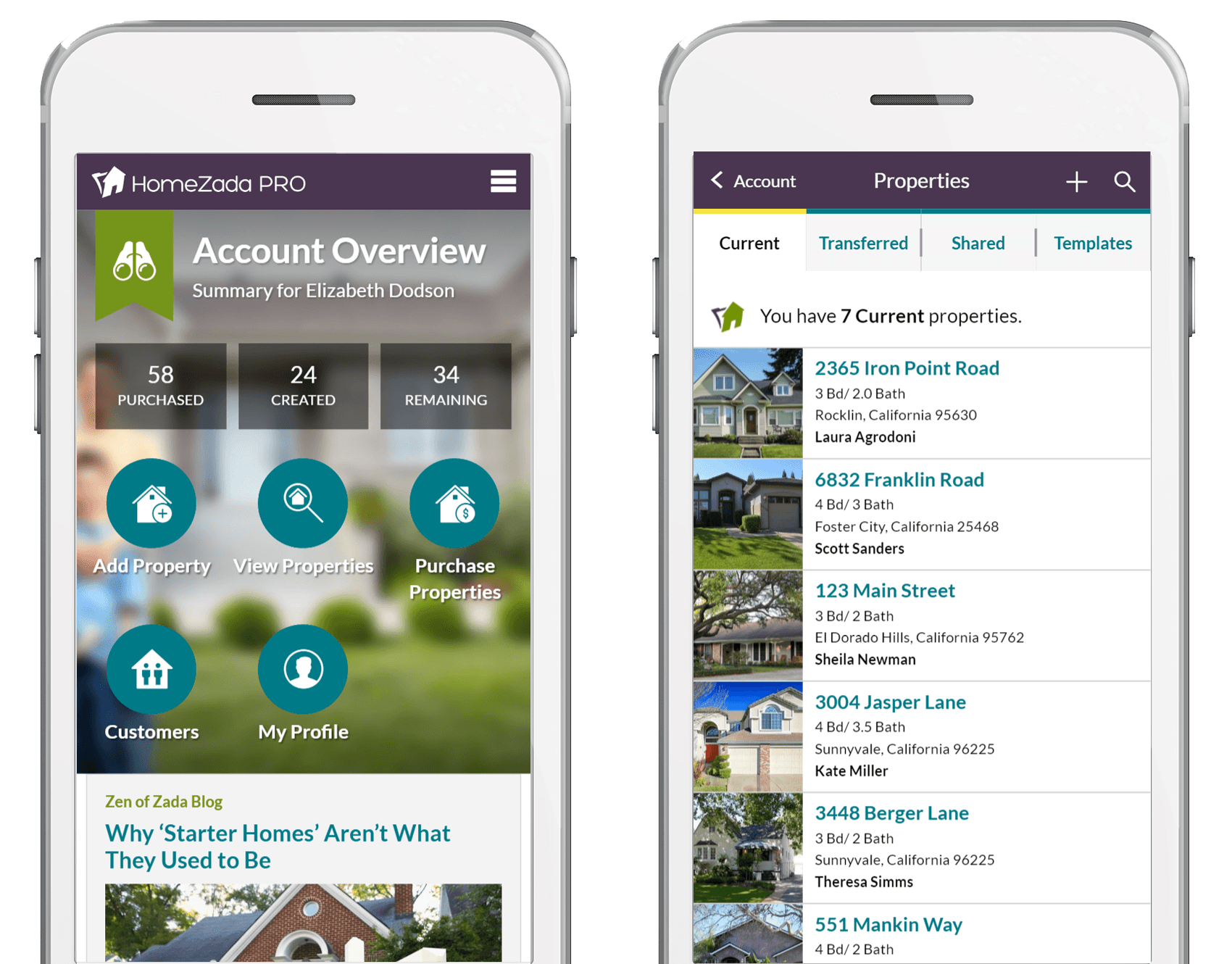 Homezada Pro for realtors for customer retention