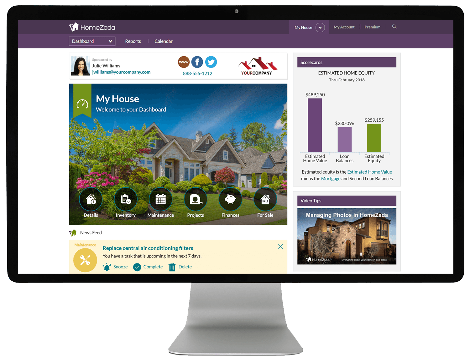 HomeZada Home Remodel Screenshot