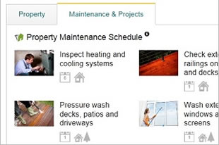 Home maintenance on a real estate listing