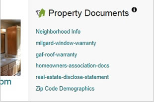 Property documents on a real estate listing